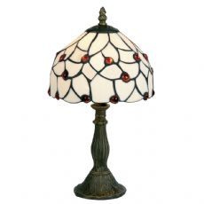 Tiffany Amber Beads 1x60w Beaded 8 Inch Table/Bedside  Lamp - Table OT 60 AB